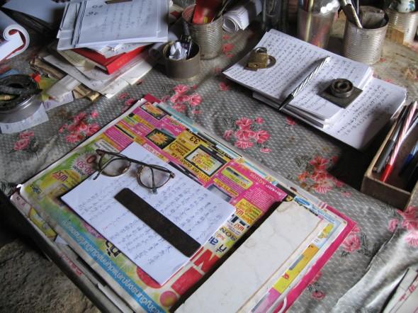 An herbalist's desk