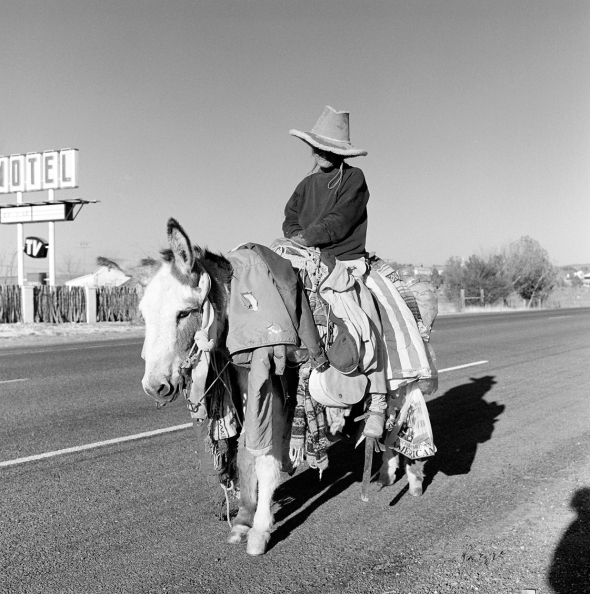 The Burro Lady of Big Bend; photograph copyright  James Evans