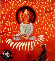a painting of Buddha by Jack kerouac