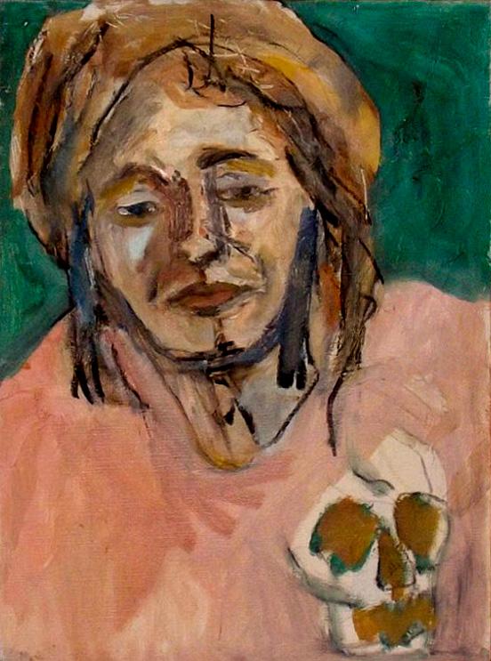 A painting of Roxy Gordon by Georgia Stafford.