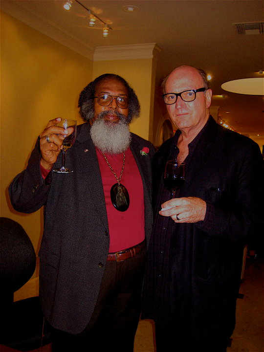 Frank, on the right, with an artist friend