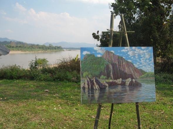 The Mekong River near Chiang Khong. Laos is on the far shore.
