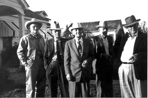 Uncles and Big Daddy, on the far right, my grandfather.