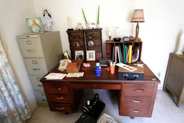Kerouac's writing desk in Florida, where he wrote The Dharma Bums, the story of his time with Snyder.